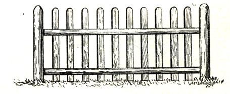 Рис. 5. Забор штакетный