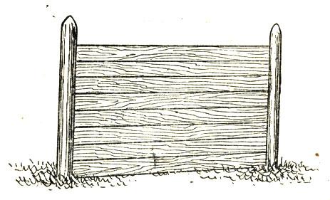 Рис 7. Забор глухой дощатый