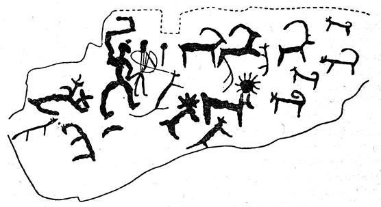 Рисунки человек с луком